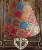 Moroccan Tiles lampshade,No2 shabby chic,red blue orange green vintage FREE GIFT