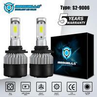 2X HB4 9006 LED Headlight Lamp Light Bulbs Conversion Kits 1800W 270000LM 6000K