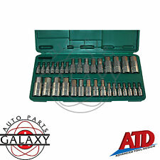 ATD 32 Piece Master Hex Bit Socket Set 16 SAE & 16 Metric Not for Impact Wrench