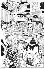 Captain America #1 p.2 - Bad Guys Splash - 1996 art by Ron Garney Comic Art