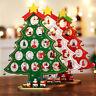 Christmas Wooden Tree Decor Party Table Desktop Decor Xmas Ornaments Kids Gifts