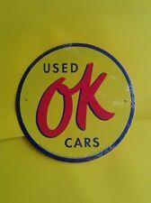 tin aluminum deco gas oil dealer garage repair shop advertising chevrolet ok car