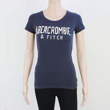 A&F Womens Size S Abercrombie Blue Black T Shirt Top