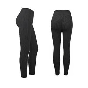 Girls Yoga Pants Fitness Leggings Honeycomb Running Gym Workout Sport High Waist
