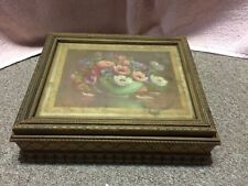 Vintage, ornate, floral, keepsake box, jewelry box. Beautiful!