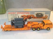 Dinky supertoys tracteur berliet remorque surbaissée porte transformateur boite