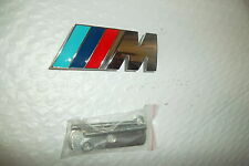 "80mm x 30mm FITS BMW  Grille  ""M"" Badge All Solid Metal Chrome For most models"