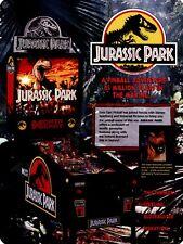"Data East Jurassic Park Pinball  9"" x 12"" Sign"