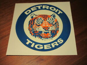 1980'S BASEBALL DECAL STICKER 3 5/8  INCH DETROIT TIGERS