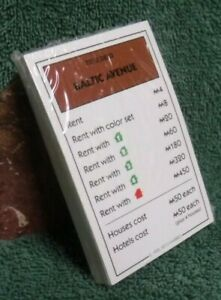 Monopoly Replacement parts 28 Property Deed Cards  Only - 2013 Deluxe Edition