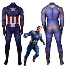 Captain America Civil War Costume Cosplay Jumpsuit Bodysuit For Adult Kids
