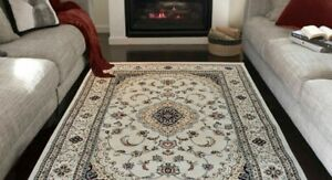Cream Traditional Thick dense  Almas 2222A Rugs floral pattern unique look 4room