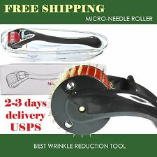 Microneedle Skin Roller Titanium 2.50mm Micro Derma Needle Roller Scars Wrinkle