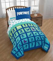 Fortnite Bedding Set For Boys Twin Full Comforter Sham Bed Room Reversible 2Pc
