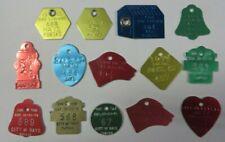 Vintage 1960's Lot Dog & Cat Tag License Tax Registration Hays, Kansas Exonumia