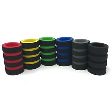 """100 pcs Multi-Color Memory Foam Tattoo Grip Cover  7/8"""" Stainless Disposable"""
