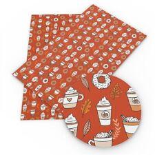 Pumpkin Latte, Coffee Faux Leather Sheet