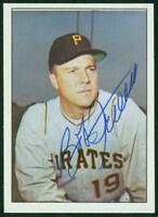 Original Autograph of Bob Friend of the Pittsburgh Pirates on a 1978 TCMA Card