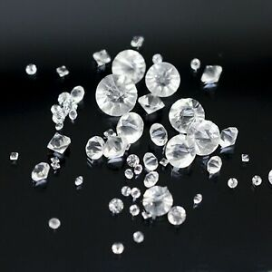 Clear Glass Rhinestone Diamond Confetti Wedding Table Scatter 3mm,4mm,5mm