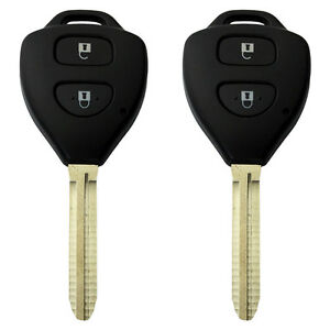 2 x Key Remote Button Shell for Toyota Rav4 Corolla Camry Prado Echo Hilux Yaris