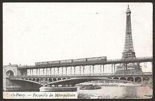 France. Paris. La Passerelle du Métropolitain - Vintage Printed Postcard