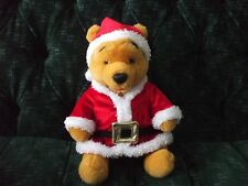 "12"" Holiday Santa Pooh from the Disney Store"