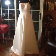 NWOT Size 12 Ivory Satin Full Length Wedding Gown