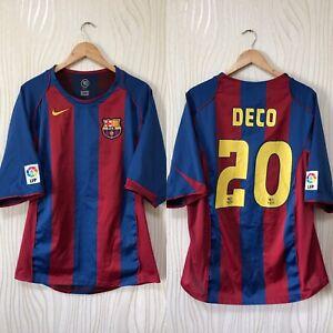 BARCELONA 2004 2005 HOME FOOTBALL SHIRT SOCCER JERSEY 20 DECO VINTAGE