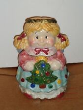 "Jay imports girl angel ceramic cookie jar 11 1/2"" TALL"