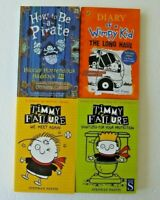 Youth x4 book bundle - Timmy Failure Diary of a Wimpy Kid How to be a Pirate VGC