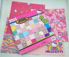 """Hello Kitty Scrapbook Paper Pad 150 sheets 12"""" x 12"""" 50 Different Designs New"""