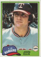 FREE SHIPPING-MINT-1981 Topps #339 John Ellis Texas Rangers Baseball Card