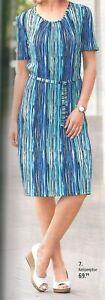 Kleid Strandkleid Crashkleid Freizeitkleid Sommerkleid leicht blau 44 48 50 52