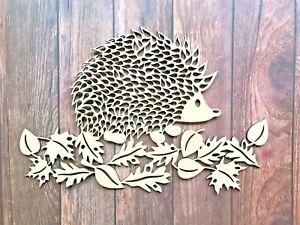 Hedgehog Wall Art Wooden Hedgehog Picture Hedgehog Print Hedgehog Gift Art