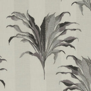 Palma Charcoal - By Clarke & Clarke embroidered fabric - 2.5m Piece F1303/01