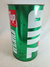Vintage 1970's 7-UP Wet & Wild metal trash garbage waste basket can by JL Clark