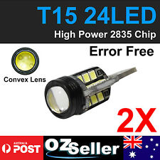 Pair White T15 W16W 2835 Projector 24-LED Backup Reverse Bulb No Error Canbus AU