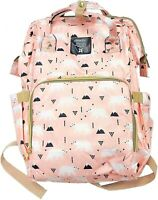 Peach Bear Baby Nappy Changing Bag Backpack Diaper Waterproof Travel Back Pack