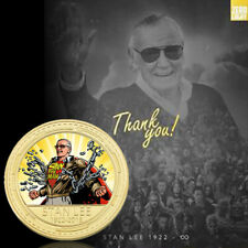 Remember Stan Lee Gold  Art Crafts Coin Fans Souvenir  Gift for Collection