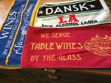 Bar Towels with wine/low alcohol logos x 7 - used but in good clean condition