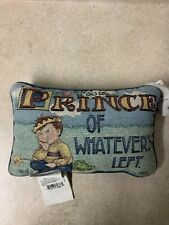 "Mary Engelbreit ""Prince Of Whatever's Left Tapestry Accent Throw Pillow 12"" x 7"""