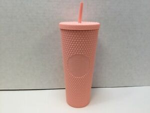 Starbucks 2020 Venti Tumbler Studded Matte Pink Diamond Rubberized Cold Cup 24oz