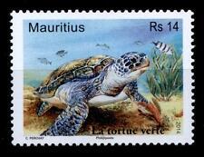 Schildkröten. Suppenschildkröte. 1W. Mauritius 2014