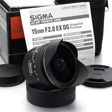 Sigma AF Fisheye 15mm F/2.8 EX DG Lens for Canon EF