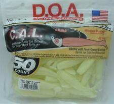 "DOA 10-305 Cal Shad Lure 50CT 3"" Color 305 Nite Glow 21372"