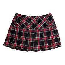 Tripp NYC Gothic Punk Black Red Tartan Plaid School Girl Mini Skirt Size XXL 2X