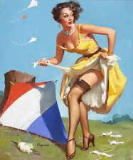 'KEEP EM FLYIN' 1954 ELVGREN VINTAGE STYLE PIN UP GIRL KITE POSTER PRINT 24x20