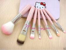 2019 New style 7 pcs/sets Pink Hello Kitty Makeup brush suit Cute cartoon box