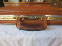 Vintage Ventura Leather Briefcase Attache - Combo Lock Slim Executive Style