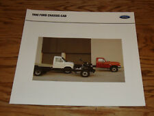 Original 1990 Ford Chassis-Cab Truck Foldout Sales Brochure 90 F-Series